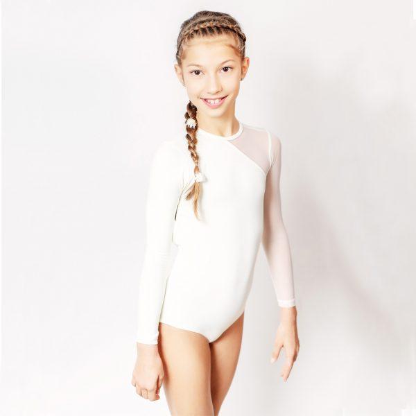 Ballet leotard white front